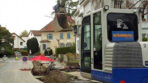 """Bau der """"Transportleitung 2"""" in der Kolumbanstraße. Foto: fst"""