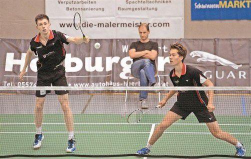 Bei ihrem ersten gemeinsamen Einsatz im Doppel gingen Toby Penty (l.) und Moritz Kaufmann als Sieger vom Platz. Foto: vn/Stiplovsek