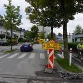 Asphaltierung in der Bregenzer Strabonstraße