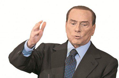 Berlusconi sorgt mit seinen Aussagen über seine politische Zukunft für Verwirrung. Foto: ap