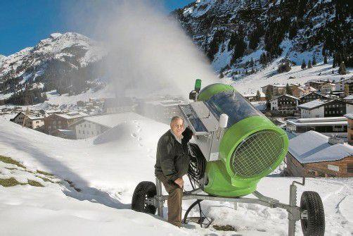 Beschneit wird ab Oktober, wenn es kalt genug ist. Foto: VN/Paulitsch