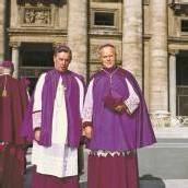 Bischof Paulus Rusch und Bruno Wechner in Rom. Foto: Diözese