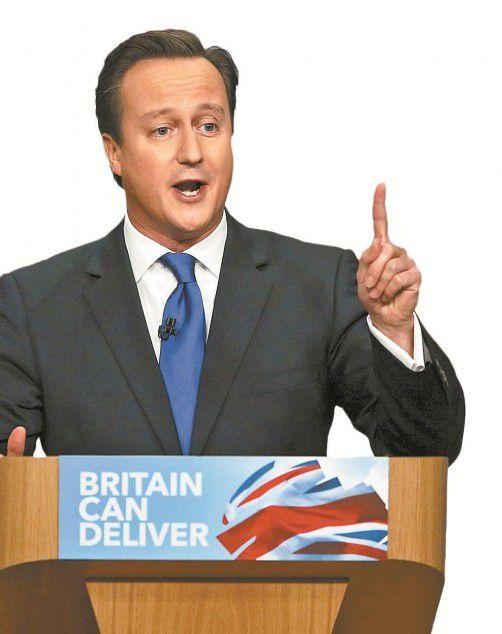 """Cameron: Für Großbritannien heißt es nun """"tu etwas oder versinke"""". Foto: AP"""