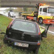 Schleuderunfall auf Autobahn