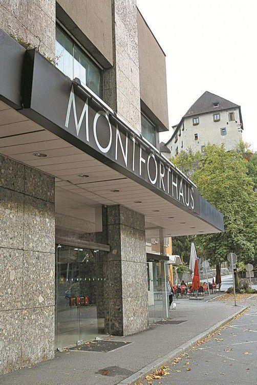 Das Montforthaus wird Ende Oktober abgerissen. Foto:Hofmeister