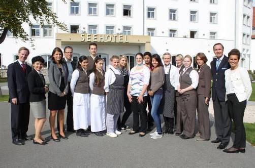 """Das Seehotel """"Am Kaiserstrand"""" legt großen Wert auf eine fundierte Ausbildung im Hotelleriebereich. Foto: Seehotel"""