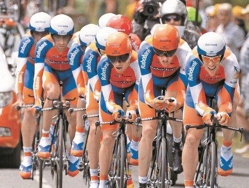 Das orange Rabobank-Team verschwindet aus dem Radzirkus. Foto: ap