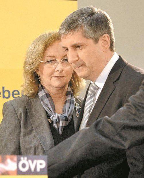 Debatte über Steuerreform: Spindelegger (r.) und Fekter. Foto: apa