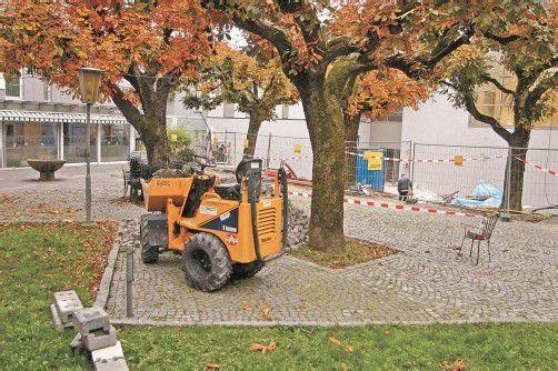 """Der """"Bayerische Biergarten"""" wird im Zuge des Kronenhaus-Neubaus aufgewertet. Foto: VN/J. Schwald"""