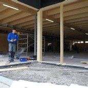 Nach Brand: Aufbau des Sutterlüty-Marktes läuft