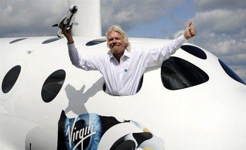 Der britische Milliardär und All-Pionier Richard Branson will noch höher hinaus als Felix Baumgartner mit der Mission Stratos. Foto: EPA