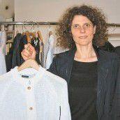 Die Fashion-Designerin Ilona Drozdzik aus Dornbirn in ihrem Studio in Manhattan. Foto: VN/Enzelsberger