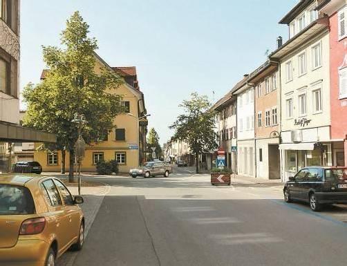 Die Marktstraße – Stiefkind der Hohenemser Stadtplanung? foto: VN