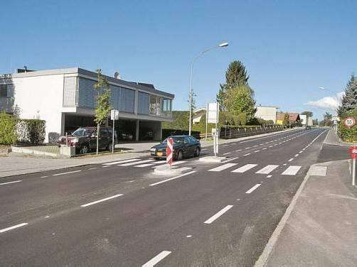 Ein 300 Meter langes Teilstück der Liechtensteiner Straße in Tisis wurde generalsaniert. Foto: SM