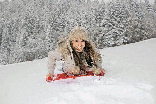 Eindrücke wie im tiefsten Winter auch am Pfänder. Ein paar Zentimeter Schnee könnten noch dazukommen. Danach wird es wieder wärmer.  foto: VN/rp