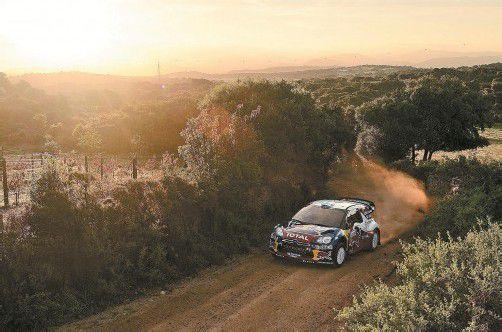 Erster Sieg mit dem Citroën-Auto: Mikko Hirvonen auf Sardinien. Foto: ap
