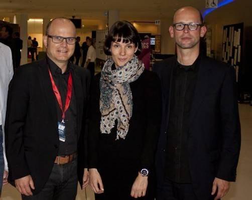 Festspielhaus-Geschäftsführer Gerhard Stübe (l.) mit Projektleiterin Angela Seyfried und Kurator Hans-Joachim Gögl. FotoS: Franc