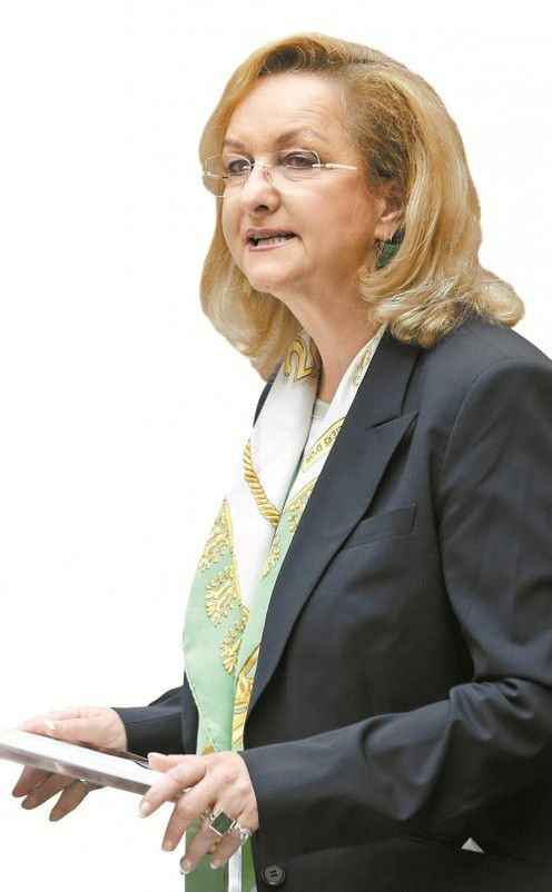 Finanzministerin  Maria Fekter im Nationalrat. Foto: APA