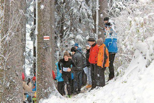 Florian Heinzle überzeugte auf der schneebedeckten Strecke und markierte beim Staufencup Tagesbestzeit. Foto: privat