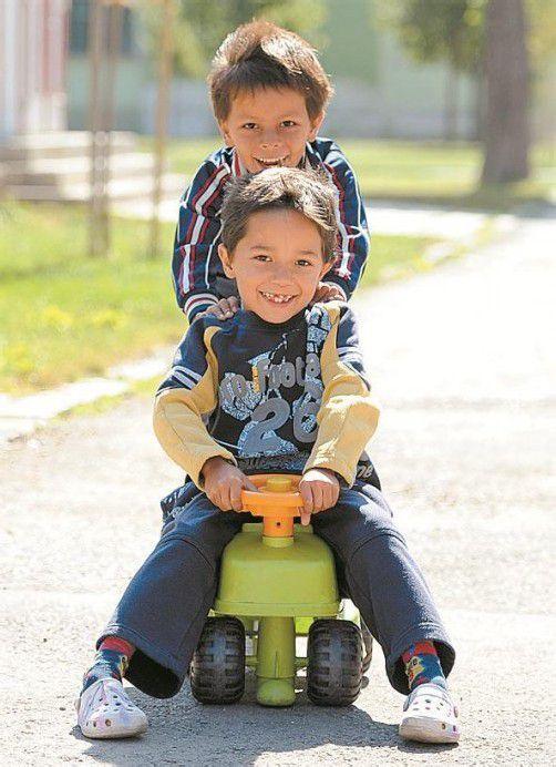 Flüchtlingskinder in Traiskirchen (NÖ). Foto: APA