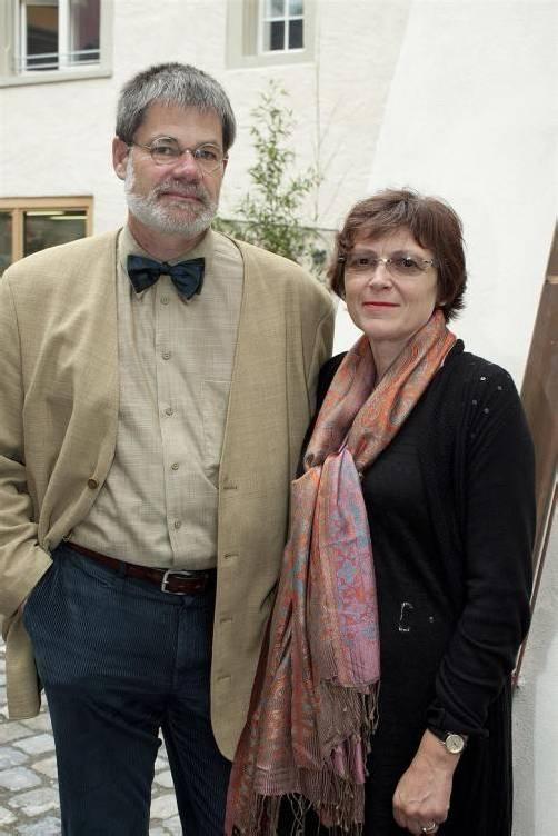 Gästepaar: Restaurator Helgi Bartsch und Elke.