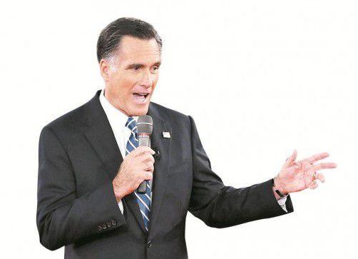 Gerät unter Druck: Romney. Foto: RTS