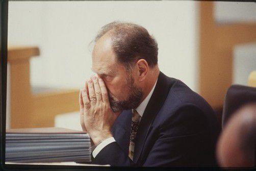Gespannt verfolgt Walter Kornexl im Jahre 1996 eine Debatte im Plenum des Vorarlberger Landtags. Foto: vn/hofmeister