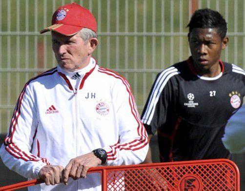 Grünes Licht gab Bayern-Trainer Jupp Heynckes für die Nationalteamreise von David Alaba (r.). Foto: dpa