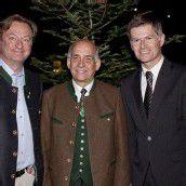 Haubenkoch mit Landesjägermeister und Casino-Direktor : Heino Huber (l.) sowie Ernst Albrich und Bernhard Moosbrugger.