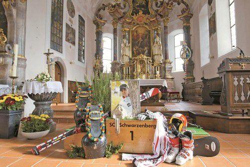In der Kirche von Schwarzenberg wird heute Skirennläufer Björn Sieber verabschiedet. Foto: hartinger