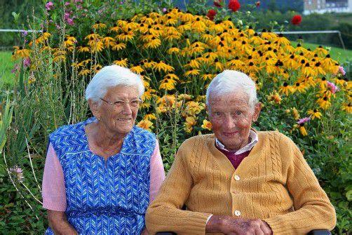 Inzwischen 89 und 93 Jahre alt wünscht sich das Jubelpaar vor allem, gesund zu bleiben.