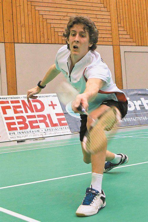 Jan Sedlmayr konnte bei seinem Comeback in beiden Partien sowohl im Einzel als auch im Doppel punkten. Foto: steurer