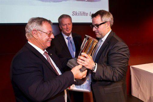 KMU-Preisträger 2012: Der erstmals vergebene Preis ging an den Geschäftsführer der Skilifte Lech, Michael Manhart.