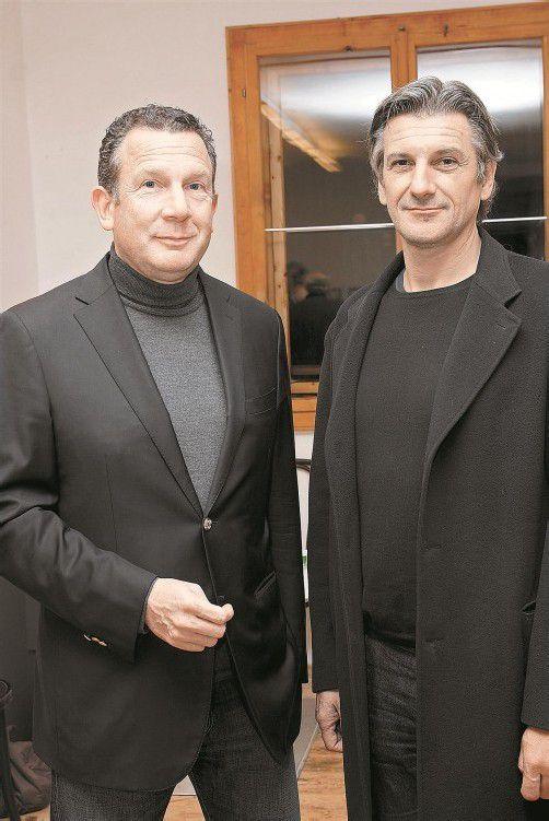 Konsul mit Kurator: Markus Keel (l.) und Arno Egger.