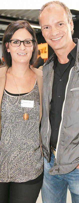 Koordinatorin Claudia Lusser und Sponsor Thomas Mallin.