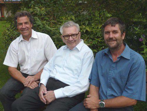 Leiter Peter Amann, Edwin und Christoph Wallmann. Foto: JU