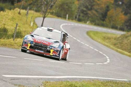 Loeb steuerte seinen Citroën zum neuerlichen WM-Titel. Foto: AP
