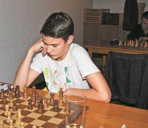 Luca Kessler konnte seine beiden Partien gewinnen. Foto: Schwämmle