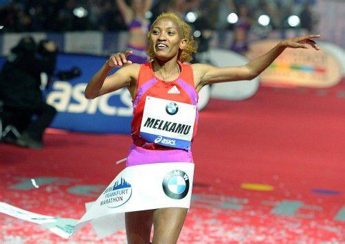 Marathon-Debütantin Meselech Melkamu. Foto: epa