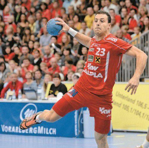 Marko Krsmancic bleibt weitere zwei Jahre bei Hard. Foto: VN/DS