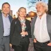 Meinrad und Ingrid Pichler mit Walter Fink (v. l.).