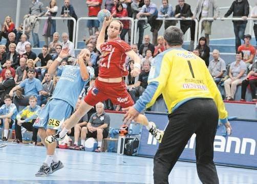 Michael Jochum war mit acht Treffern, davon vier von der Siebenmeterlinie, diesmal der erfolgreichste Harder Werfer. Foto: vn/Stilpovsek