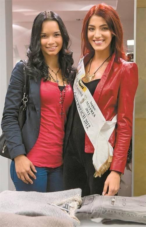 Miss Vorarlberg Lourdes Gomez und Miss Austria Amina Dagi gaben den Nachwuchsmodels hilfreiche Tipps. Fotos: VN/Steurer