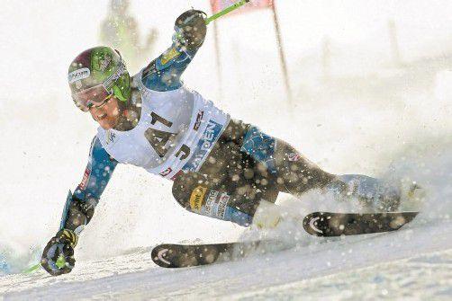Mit vollem Risiko zum Sieg im Riesentorlauf von Sölden: Ted Ligety. Foto: apa