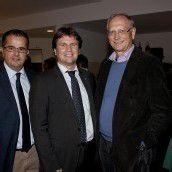 Organisator und OK-Präsident Christoph Kathan (l.) mit Michel Haller und Jodok Simma.