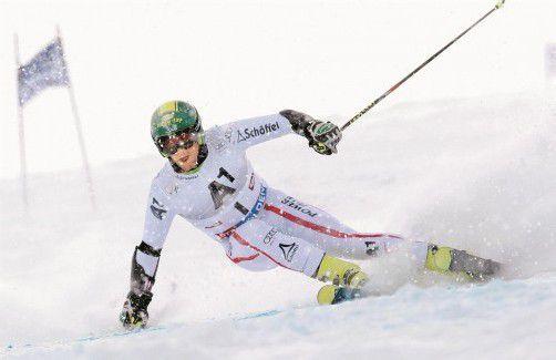 Pech mit den Bedingungen in Sölden: Philipp Schörghofer musste mit der Startnummer eins den Schneepflug spielen. Foto: GEPA