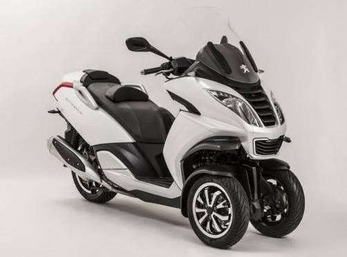 Peugeot zeigt sein erstes Modell mit drei Rädern. Foto: werk