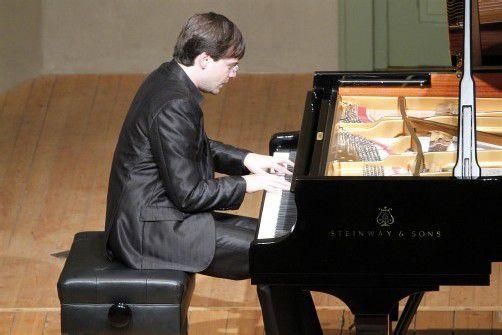 Pianist Francesco Piemontesi in Hohenems. Foto: Schubertiade