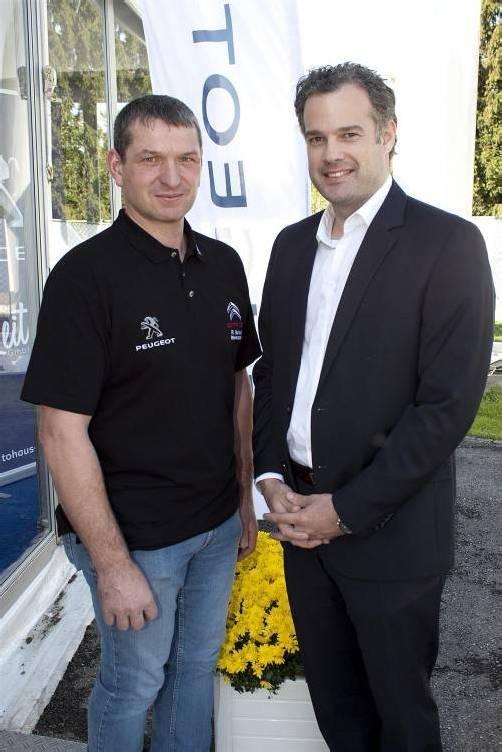 Rainer Burtscher (Werkstatt), Christian Ebetshuber (GL Peugeot).