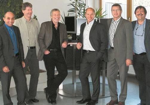 Referenten: (v. l.) Roland Teissl, Direktor Bertram Summer, Andreas Müller, Marc Girardelli sowie LR Siegi Stemer und Franz Josef Winsauer. VLK